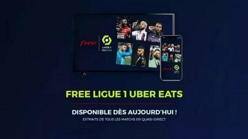 Free envoie un mail à ses abonnés, afin de faire la promotion de son service Free Ligue 1 Uber Eats
