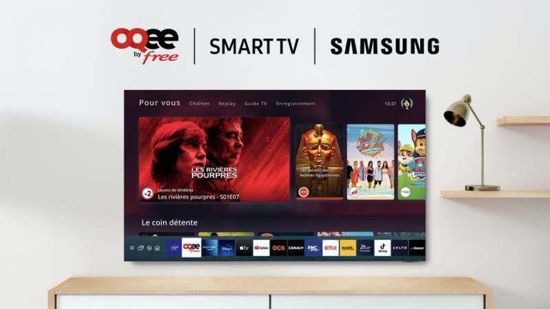 Free annonce le lancement de son application TV Oqee sur les Smart TV Samsung  pour certains abonnés Freebox