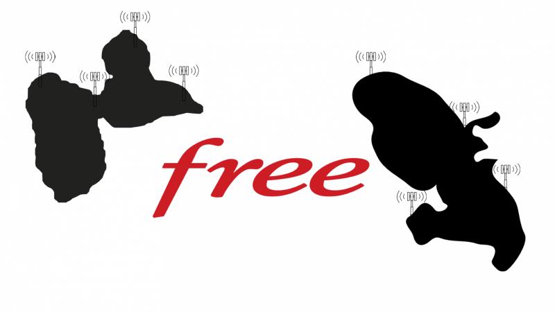 Le réseau Free Mobile apparaît désormais en Martinique et en Guadeloupe