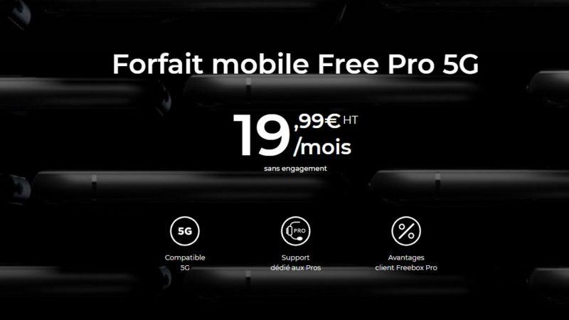 Free Pro 5G : découvrez son forfait mobile sans engagement pour les professionnels