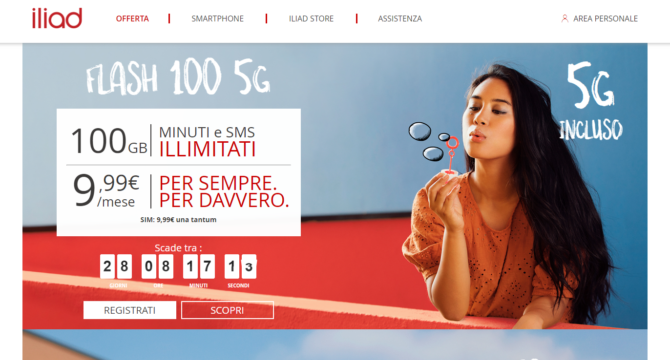 """Iliad lance un forfait 5G """"sensationnel"""" en Italie, à rendre jaloux les abonnés Free Mobile - Univers Freebox"""