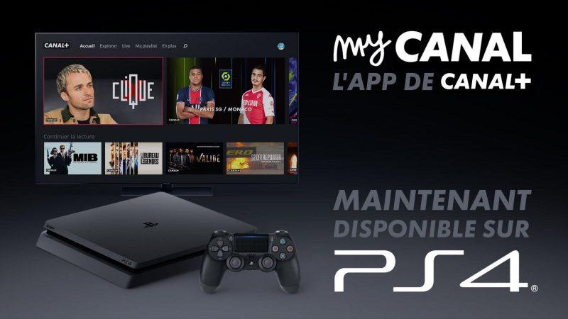 MyCanal débarque enfin sur PlayStation 4