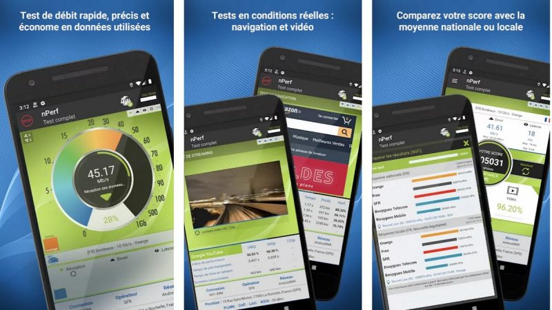 nPerf : l'application pour tester sa connexion 3G/4G/5G/Wi-Fi se met à jour sous Android