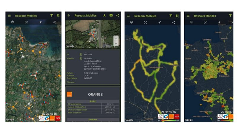 Réseaux Mobiles France : l'application pour en savoir plus sur les antennes de Free et ses rivaux se met à jour