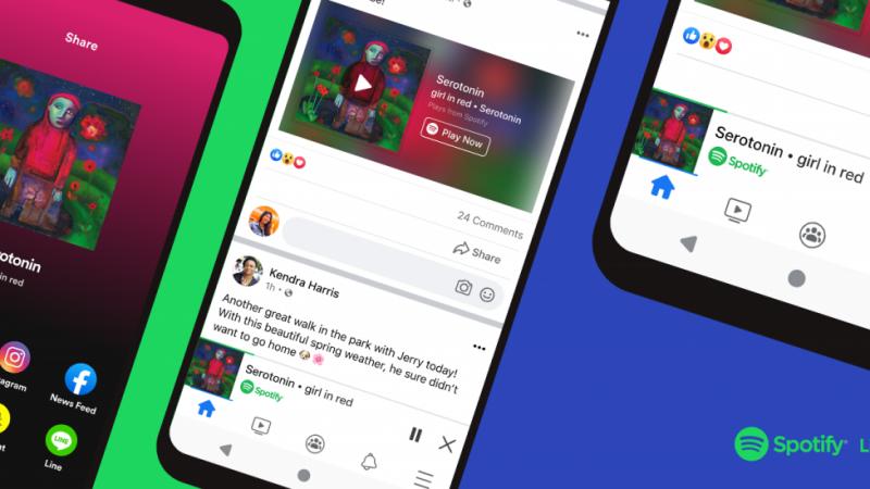 L'application Facebook intégrera prochainement un mini lecteur Spotify