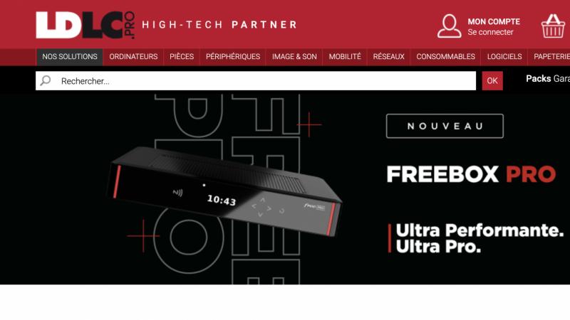 L'offre Freebox Pro désormais commercialisée chez le numéro 1 du high-tech LDLC