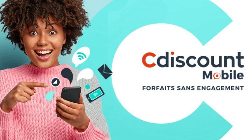 Cdiscount Mobile propose deux forfaits 4G à prix cassé avec 30 ou 40 Go