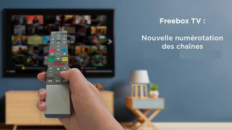 Free annonce qu'il procède à une importante renumérotation de Freebox TV, suite à l'arrivée de nouvelles chaînes