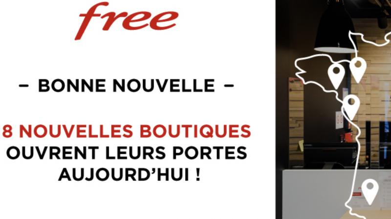 Free inaugure 8 nouveaux Free Centers et rouvre ses boutiques dans les centres commerciaux