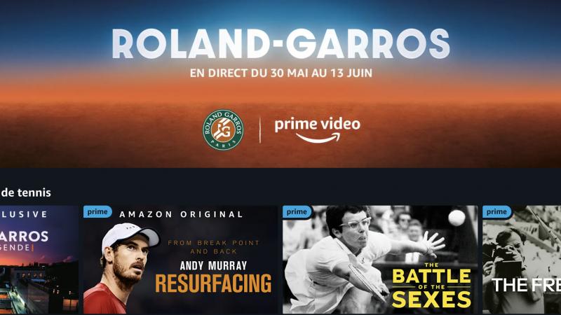 Freebox : Roland Garros débarque le 30 mai sur Prime Video avec des exclusivités