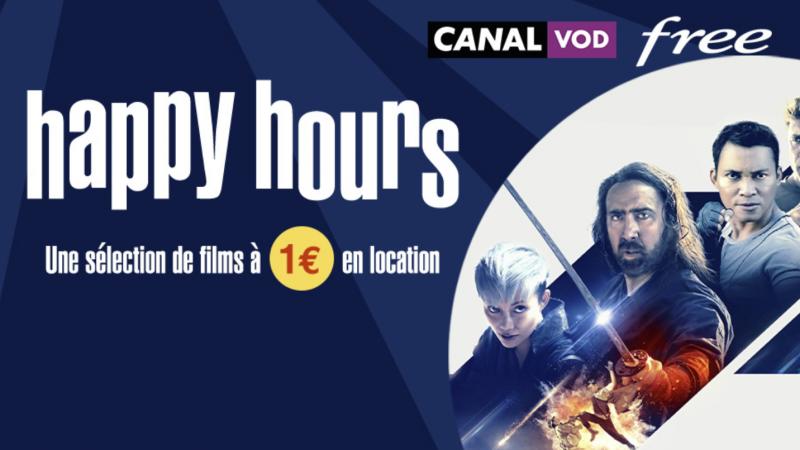 C'est parti pour les Happy Hours de Canal VOD sur les Freebox