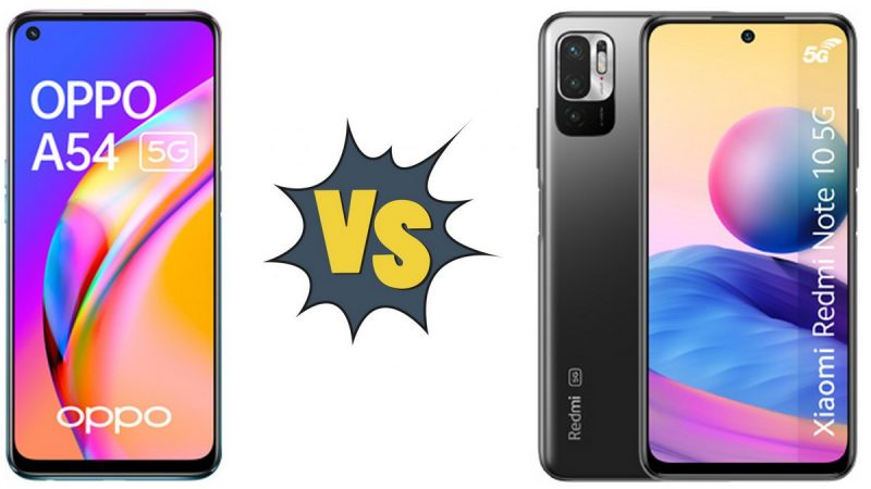 Choc des smartphones disponibles chez Free Mobile : Oppo A54 5G ou Xiaomi Redmi Note 10 5G