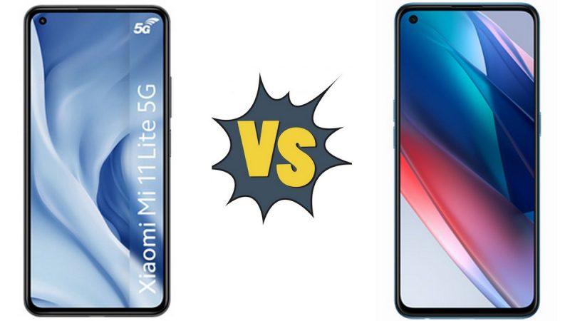 Choc des smartphones 5G disponibles chez Free Mobile : Xiaomi Mi 11 Lite 5G ou Oppo Find X3 Lite ?