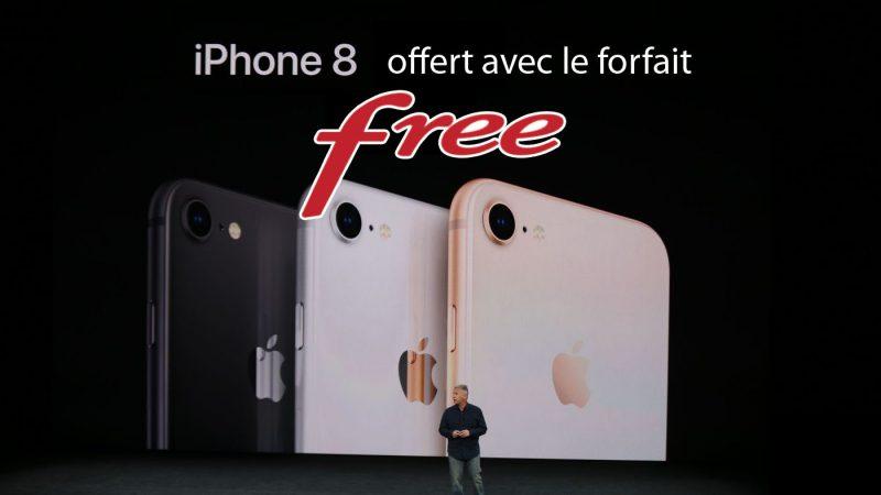 Lancement de la nouvelle offre spéciale Free : un iPhone 8 et ses accessoires sont offerts pour tout abonnement à un forfait mobile