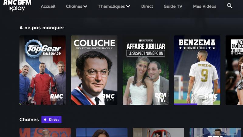 """C'est parti pour la nouvelle plateforme de VOD gratuite """"RMC-BFM Play"""", bientôt disponible sur les box des opérateurs"""