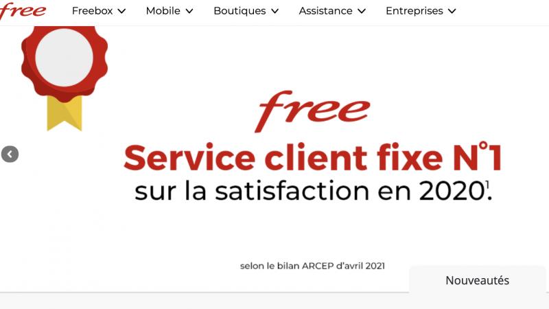 Free : son service client élu numéro 1 sur les box en matière de satisfaction