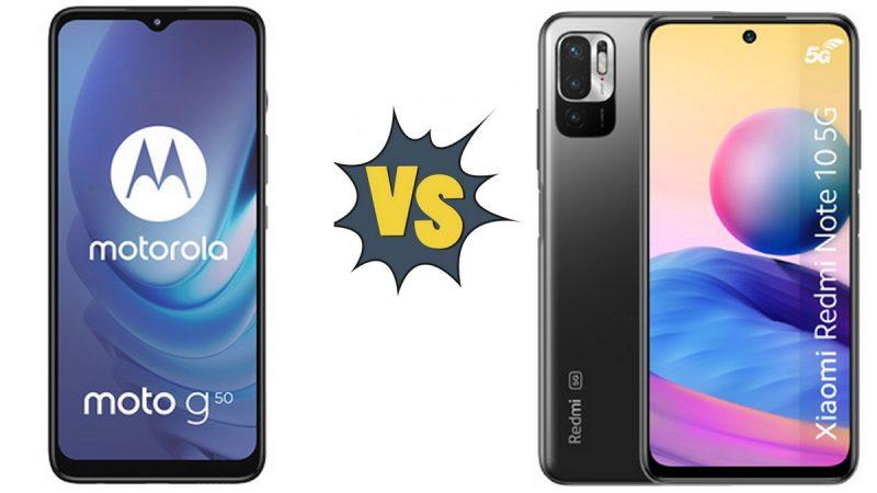 Choc des smartphones 5G à petit prix chez Free Mobile : Motorola Moto G50 5G ou Xiaomi Redmi Note 10 5G ?