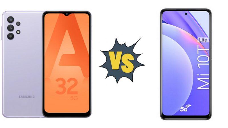Choc des smartphones 5G vendus par Free Mobile : Samsung Galaxy A32 5G ou Xiaomi Mi 10T Lite ?