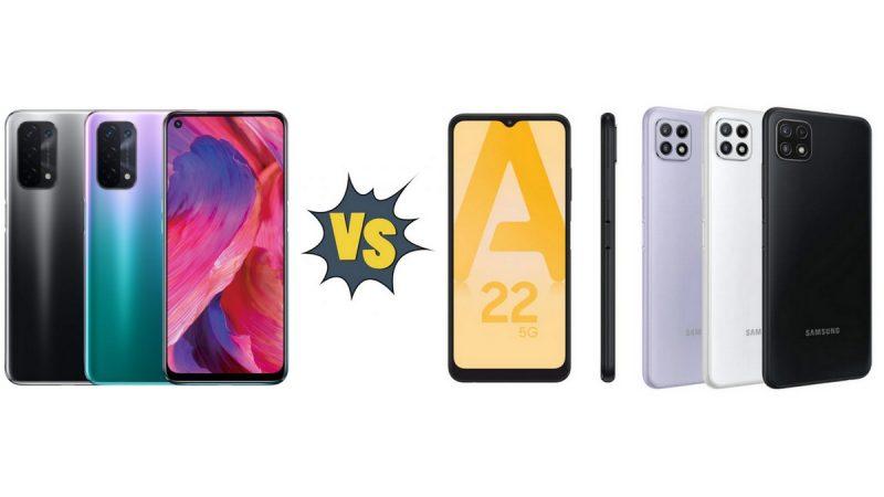 Choc des smartphones dans la boutique Free Mobile : Oppo A54 5G ou Samsung Galaxy A22 5G ?