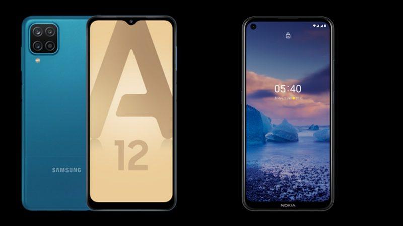 Choc des smartphones chez Free Mobile : Samsung Galaxy A12 ou Nokia 5.4 ?
