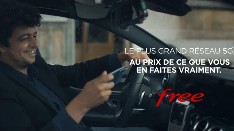 """La 5G Free Mobile aussi a droit à une nouvelle publicité, """"au prix de ce que vous en faites vraiment"""""""