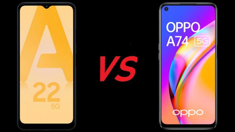Choc des smartphones chez Free Mobile : Samsung Galaxy A22 5G ou Oppo A74 5G ?