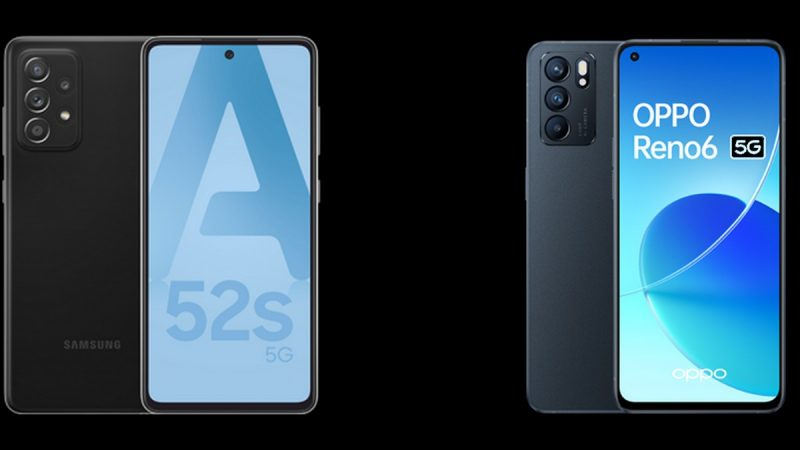 Choc des smartphones chez Free Mobile : Samsung Galaxy A52s 5G ou Oppo Reno6 5G ?