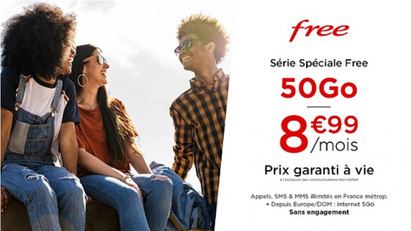 Free lance une toute nouvelle offre spéciale avec un forfait mobile à 8,99€/mois valable à vie