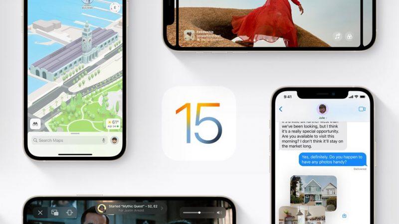 Apple officialise le lancement d'iOS 15 et iPadOS 15 la semaine prochaine