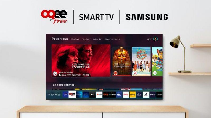 L'interface TV Oqee de Free fait le plein d'améliorations sur Smart TV Samsung